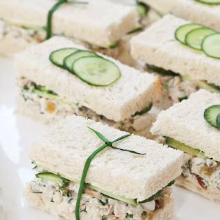Herbed Chicken Salad Tea Sandwiches.