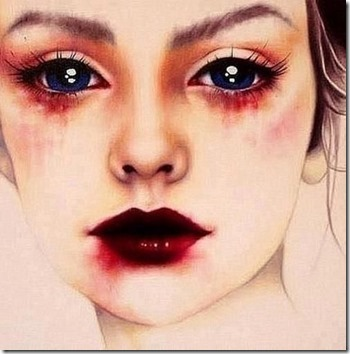 dibujos lapiz llorar y tristeza  (22)