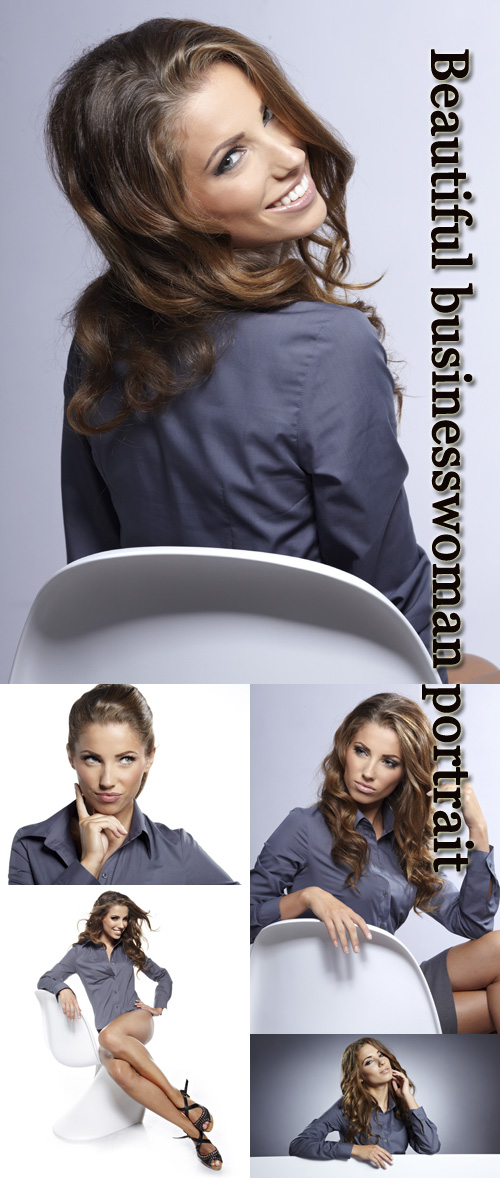 Stock Photo: Beautiful businesswoman portrait