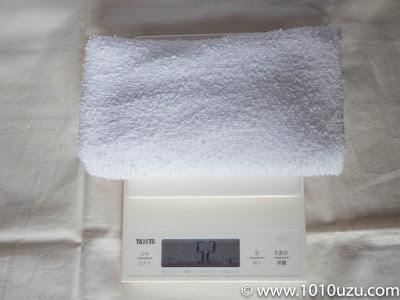 粗品タオルは52g