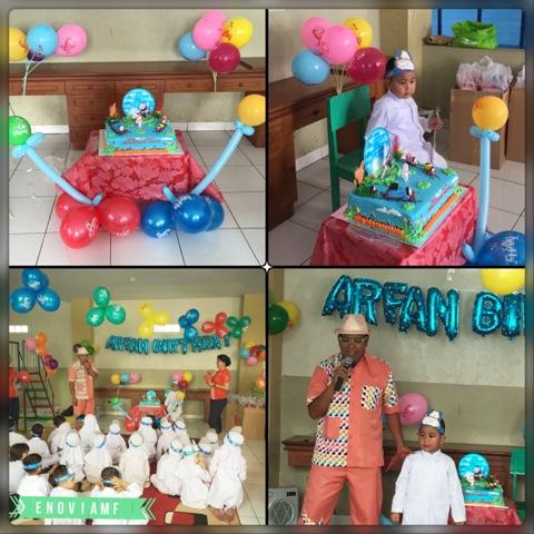 Ulang Tahun Arfan dengan Magic Baloon