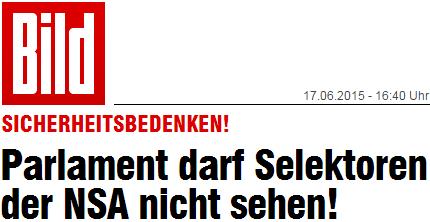 Parlament darf Selektoren der NSA nicht sehen!