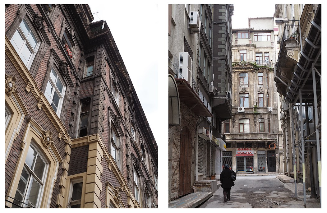 karakoy neighborhood, historical buildings, architecture