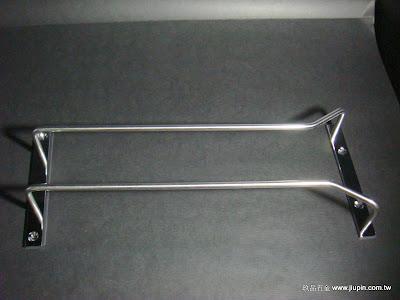 裝潢五金型號:酒杯架(加寬型) 規格:1尺/1.2尺顏色:白鐵玖品五金