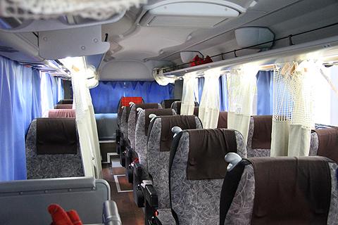 富士観光バス「ロイヤルエクスプレス」東京便 車内