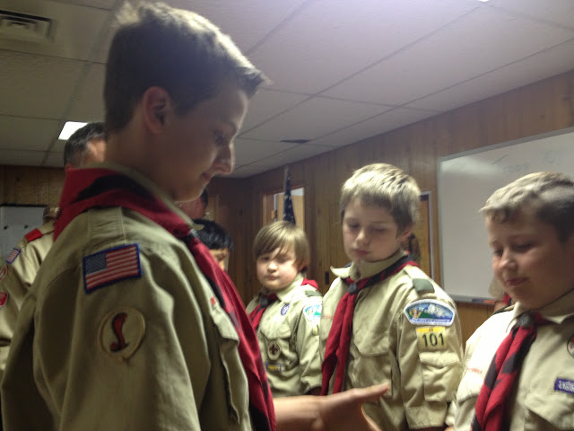 Scouts getting their ropes
