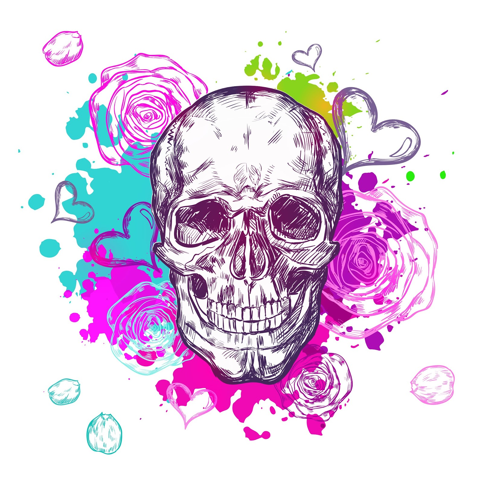 Skull Cow Boho Composition Free Download Vector CDR, AI, EPS and PNG Formats