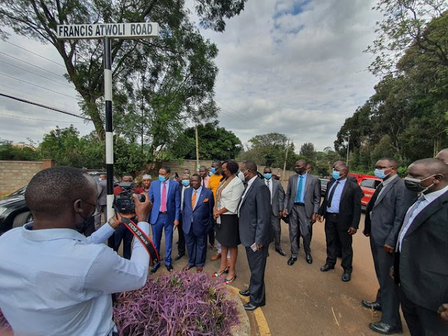 Francis Atwoli road in Nairobi Kileleshwa