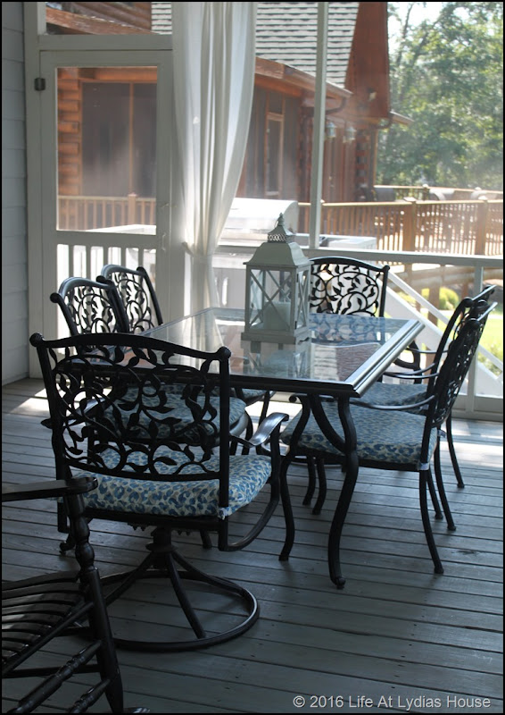 updated porch dining area