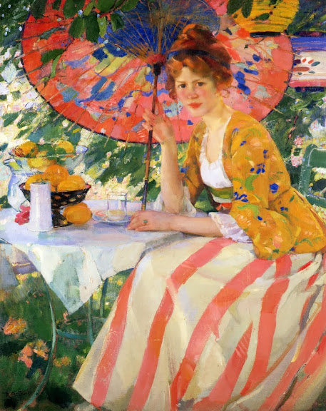 Karl Albert Buehr – Redheaded Girl with Parasol