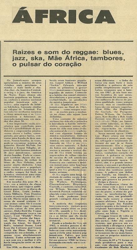Aloysio Reis, África Jamaica Brasil - Jornal de Música 1976-12 - AR - 01