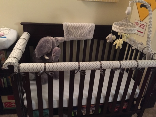 Walk With The Andrews Diy No Sew Crib Teething Rail Cover