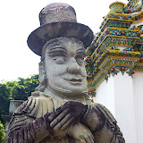 Statue at Temple of Emerald Buddha (Wat Phra Kaew) - 1. Bangkok