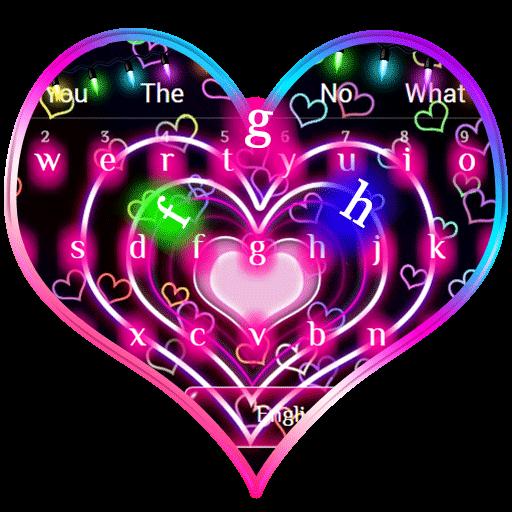 Neon Hearts Keyboard