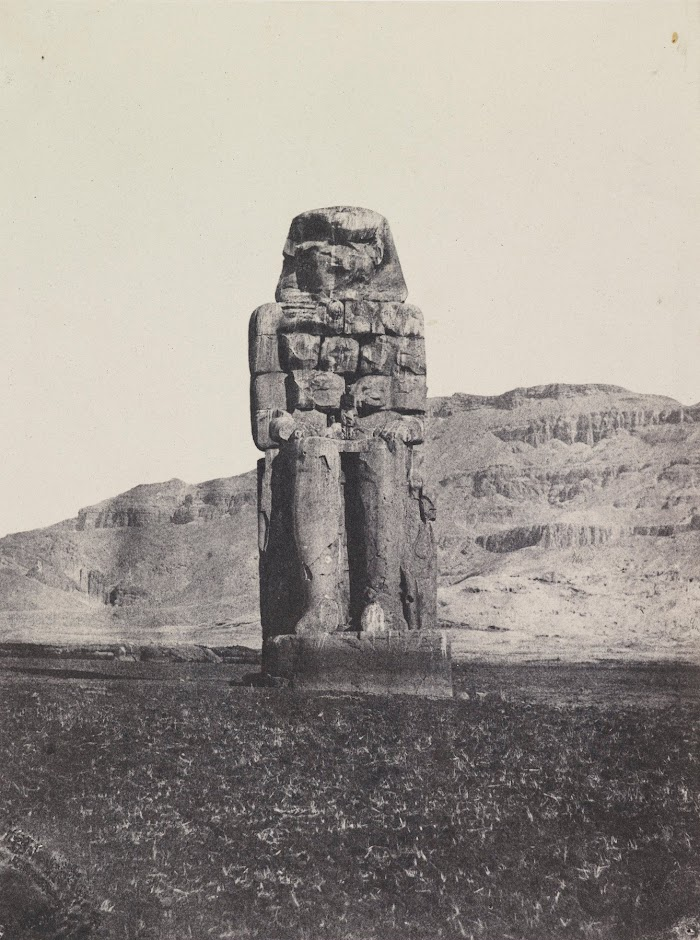 Maxime Du Camp,Gournah,Colosse Monolithe d'AménôphtIII; Thèbes - 1849/51, printed 1852