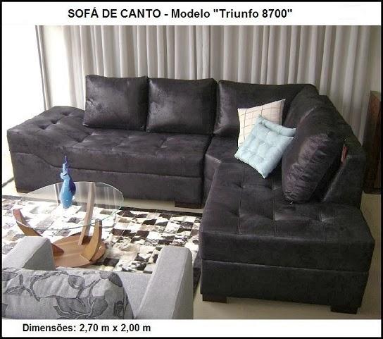 sofá de canto luxo