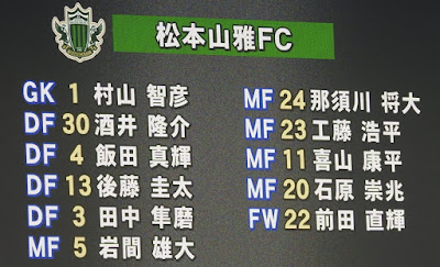松本山雅FC先発