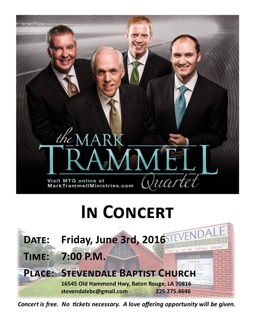 Concert Flyer mark trammell 2016