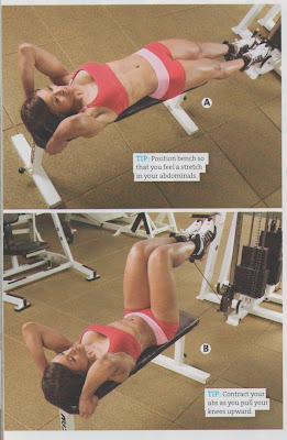 Lying cable knee raise