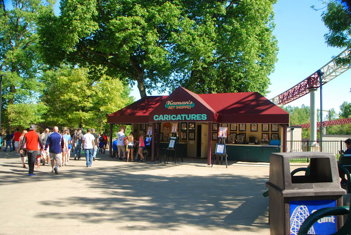 Caricatures at Cedar Point - making memories! From The Complete Guide to Visiting Cedar Point
