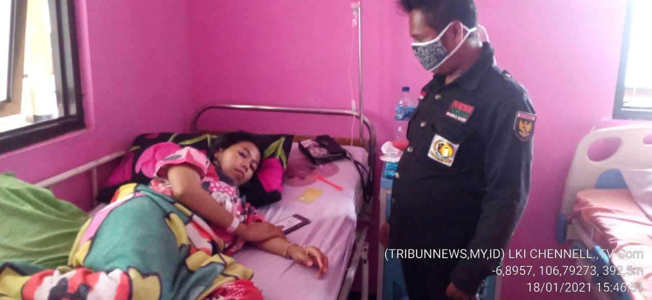 LPKDN DPD Kabupaten Sukabumi Jenguk Warga Yang Dirawat Di Rumah Sakit