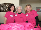 Handling t-shirt duty were Mid-Cities Panhellenic Alumane Joni Stanley, Beverly Davidson and K. C. Weigel.