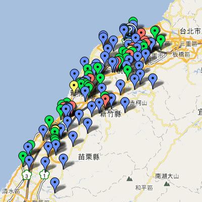 中油直營站地圖(桃竹苗)