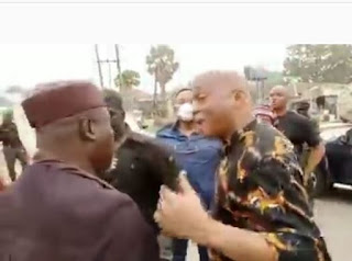 """""""Can You Stop That Nonsense"""" - Rochas Okorocha Tells Governor Hope Uzodinma's Aide Following Arrest (Video)"""