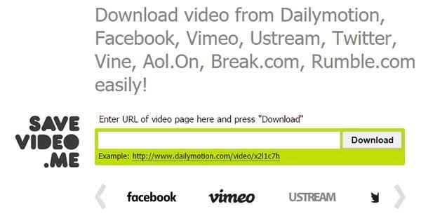 télécharger des vidéos Dailymotion avec savevideo