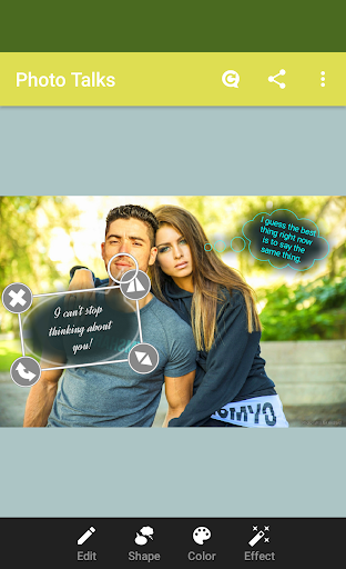 Photo talks: speech bubbles screenshot