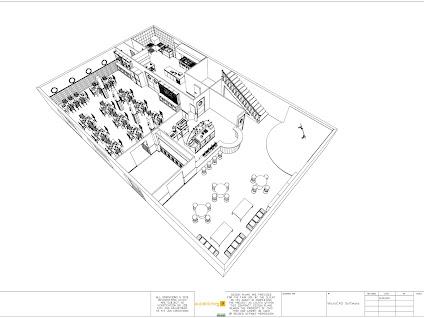 Planos de cocinas industriales realizados con el programa for Planos de cocinas industriales