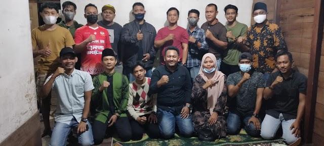Silaturahmi Karang Taruna Tunas Baru Desa Wonosari, Ini Harapan Ketua Kecamatan Bengkalis