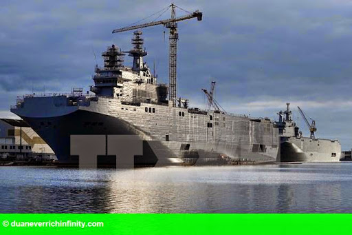 Hình 1: Nga muốn Pháp bồi thường 1,32 tỷ USD để hủy bán tàu Mistral