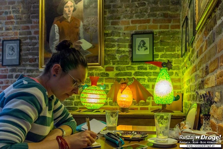 Kasia na kawie z Kopernikiem w Wieży Wodnej we Fromborku