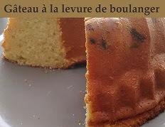 Gâteau à la levure de boulanger fraiche