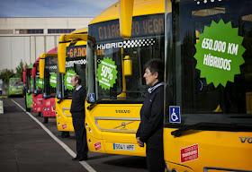 Dos nuevos autobuses híbridos del Consorcio en Alcobendas y San Sebastián de los Reyes