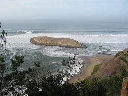 Greyhound Rock... about half an hour north of Santa Cruz.