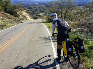 Crazy steep road outside of Temecula (Los Gatos). Had to walk down parts of it because disk brakes were on fire.