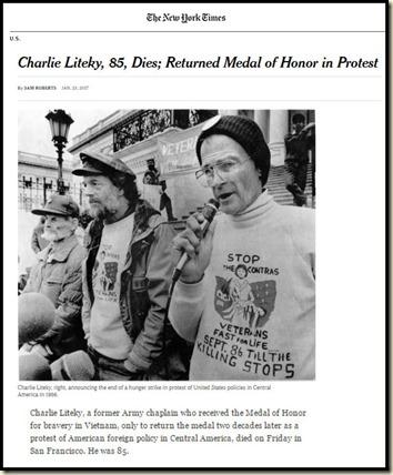 Charlie Liteky obit in NYT bd