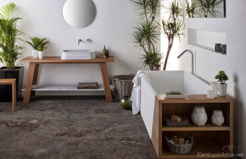 Phòng tắm sinh thái hiện đại