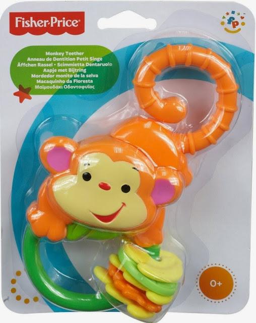 Lục lạc Khỉ ôm chuối Fisher-Price Monkey Teether