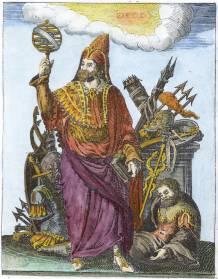 Mercurius Trismegistus From Pierre Mussard Historia Deorum Fatidicorum 1675, Alchemical And Hermetic Emblems 2