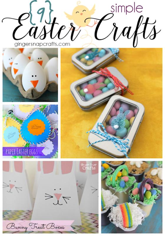 9 Simple Easter Crafts at GingerSnapCrafts.com #Easter #crafts