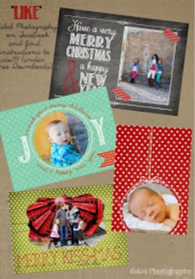 free photo card template for Christmas