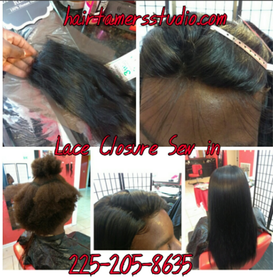 Hair Tamers Studio Sew In Weaves Lace Closure Sew In Hair Extensions