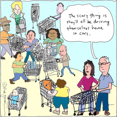 shopping cart gridlock