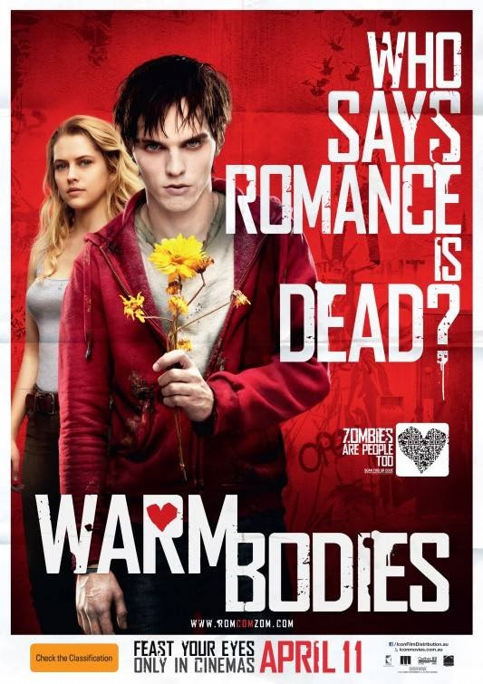 Poster Of English Movie Warm Bodies (2013) Free Download Full New Hollywood Movie Watch Online At Alldownloads4u.Com
