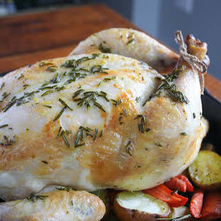Whole30 Rosemary Chicken with Root Vegetables.