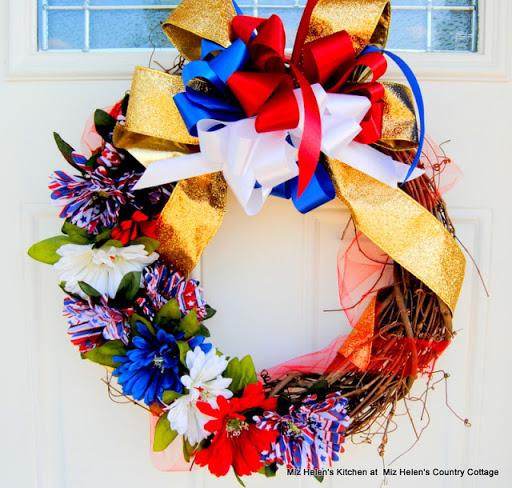 Patriotic Door Wreath