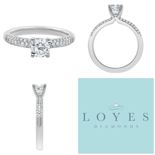 Amelia Engagement Ring. A wonderful Cushion Cut With Stunning Micro pave Set band. - https://loyesdiamonds.ie...